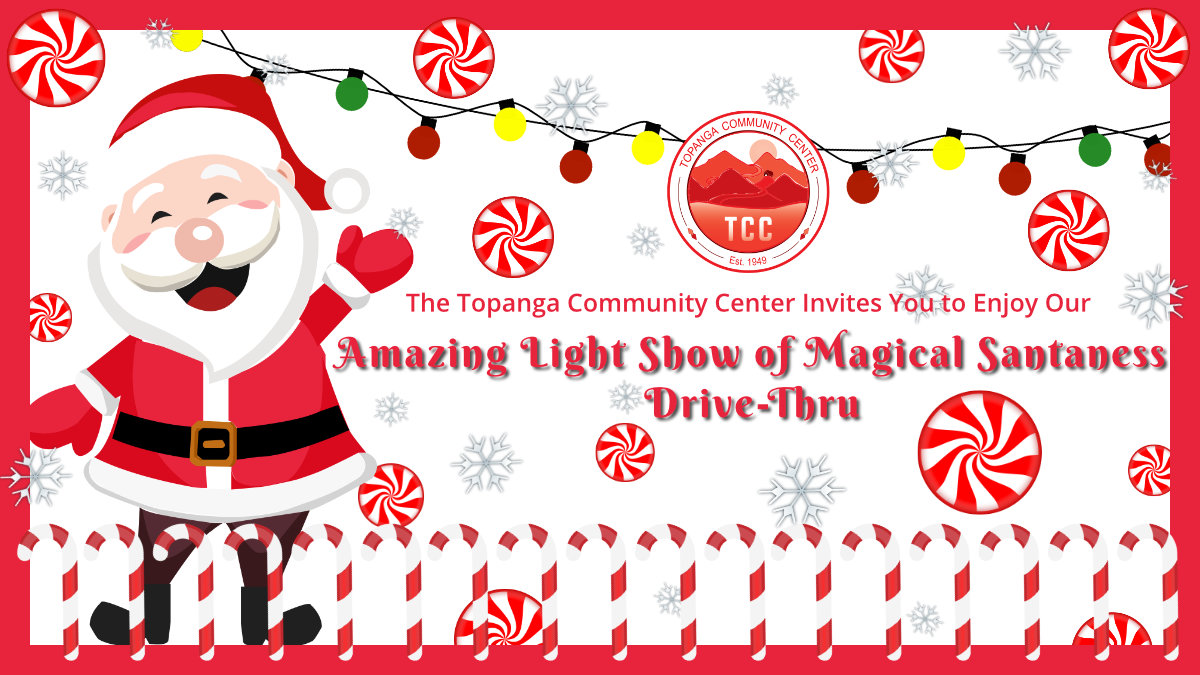 mazing Light Show of Magical Santaness Drive-Thru Flyer